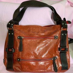Tano Glazed Leather Shoulder Bag